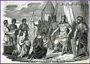Attila suivi de ses hordes barbares foule aux pieds l'Italie et les Arts, Eugène Delacroix, 1847