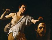 David tenant la tête de Goliath illustré par Le Caravage (1606-1607)