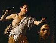 David tenant la tête de Goliath illustré par Le Caravage (1606-1607)